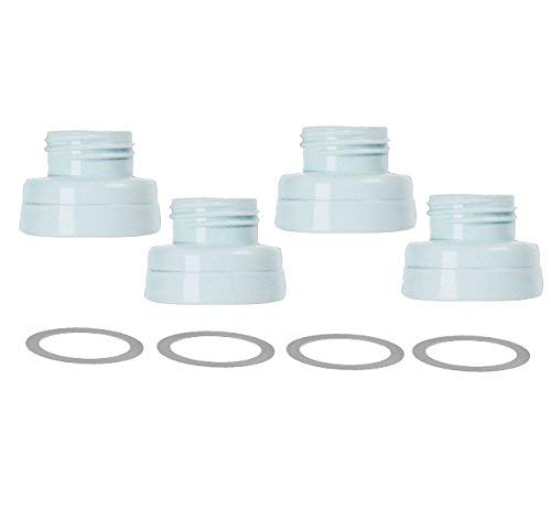 Maymom Conversion Kit for Medela Breast Pumps to Use with Phillips Avent Classic Bottles, Avent Natural PP Bottle and speCtra Wide-mouth Bottles Thread Changer; w Sealing Rings; Avent Converter Kit