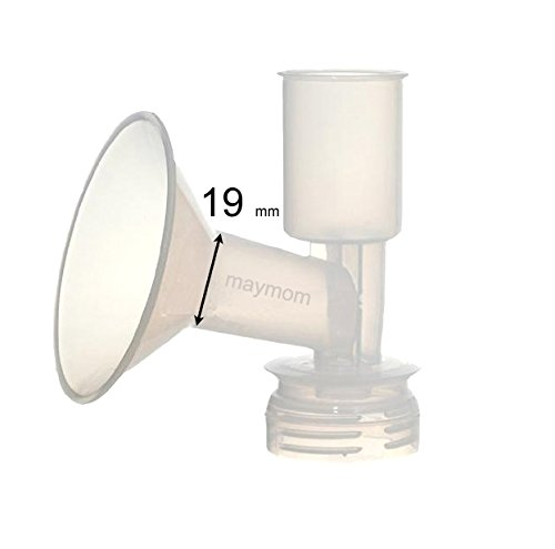 Maymom Breast Shield Flange for Ameda Breast Pumps (19 mm, Large, 1-Piece)