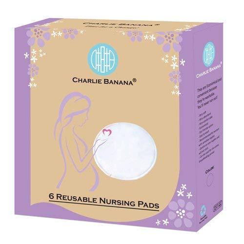 Charlie Banana Nursing Pads, White