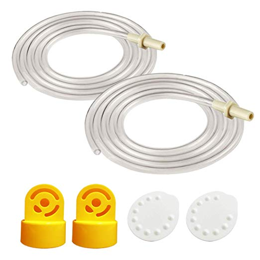 Pump in Style Tubing (Two Tubes), 2 Valves and 2 Membranes for Medela Pump in Style Advanced Breast Pump Released After Jul 2006. Replace Medela Tubing, Medela Membrane, and Medela Valve; in Retail Pack.