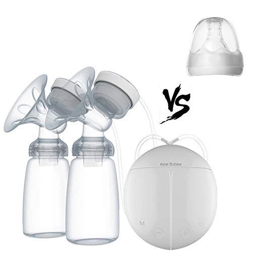 BWINKA Hands Free Double Electric Breast Pump Dual Breast Pump Automatic Massage Postpartum Prolactin