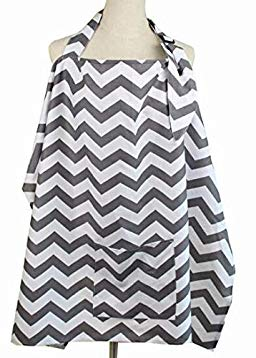 Nursing Cover, Breastfeeding Cover 100% Cotton Feeding Cover Adjustable Strap