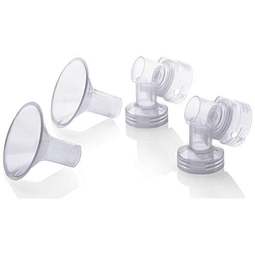 Medela Personal Fit Breastshield Connectors WITH Personal Fit Medium 24 mm Breastshields, 2-pk