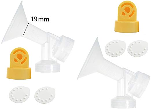 Nenesupply Compatible Pump Parts for Medela Breastpumps XX Small 19mm Breastshield Valve Membrane for Medela Pump In Style Symphony Not Original Medela Pump Parts Not Original Medela Breastshield