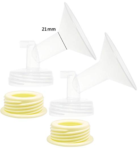 Nenesupply 21MM Flanges and Flange Adapters for Spectra S2 and Spectra S1Breastpump. Use with Spectra S2 Accessories and Medela Bottle. Not Original Spectra Pump Parts. Replace Spectra Flange