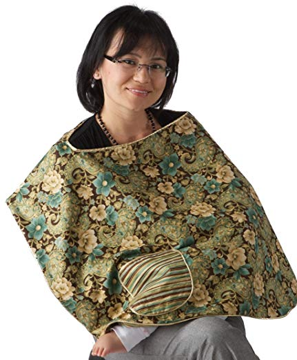 Nursing Cover for Breastfeeding Baby with Privacy & Baby Interaction. Better than a Shawl.