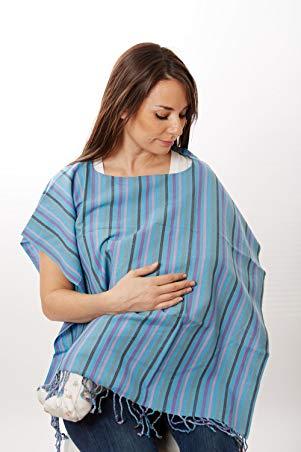 Nursing Poncho - Nursing Cover for Breastfeeding By Hip Baby Wrap (Ocean)