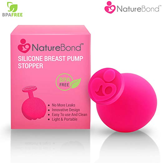NatureBond Silicone Breast Pump Stopper | Leak-Proof, BPA Free & 100% Food Grade Silicone