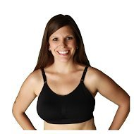 Serenity Comfort Nursing Bra with Seamless Healing Pocket and Removable Molded Pads-medium by Nizo Wear (Large, Black)