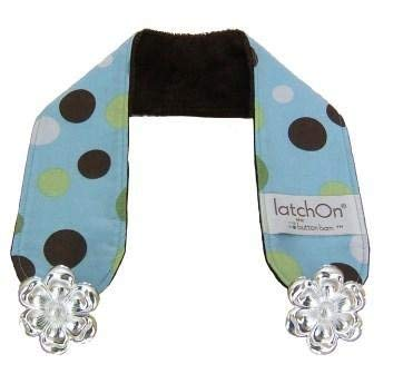 Dot Blue Minky Nursing Blanket Strap