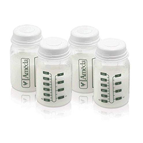 4 Ounce, BPA Free, Polypropylene Milk Storage Bottles, 4 Pack