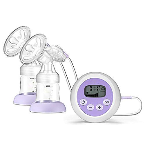 AOV Electric Breast Pump Breastfeeding Pump Double/Single Milk Pump 9 Suction Mode with Screen