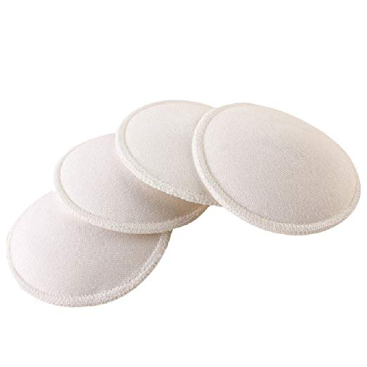 2 pair Anti-overflow Breast Pads Maternity Nursing Bra Washable Mammy Breast Pads
