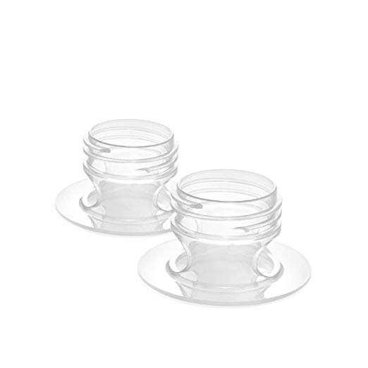 Lansinoh Pump Adapters, 2 Count, allows Direct Pumping of Breastmilk into Lansinoh Breastmilk Storage Bags, Easy to Use and Compatible with Other Breast Pumps