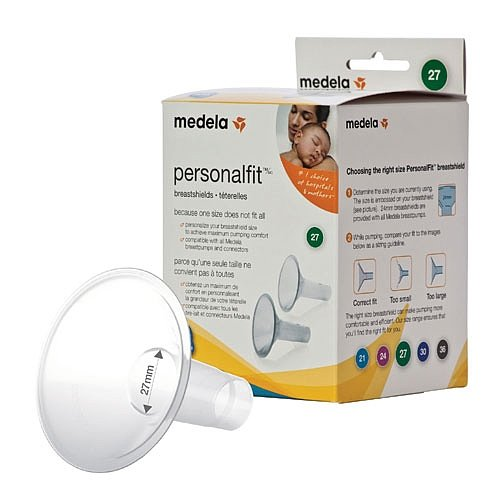 Medela PersonalFit Breastshields (2), Size: Large (27mm) in Retail Packaging (Factory Sealed) #87074
