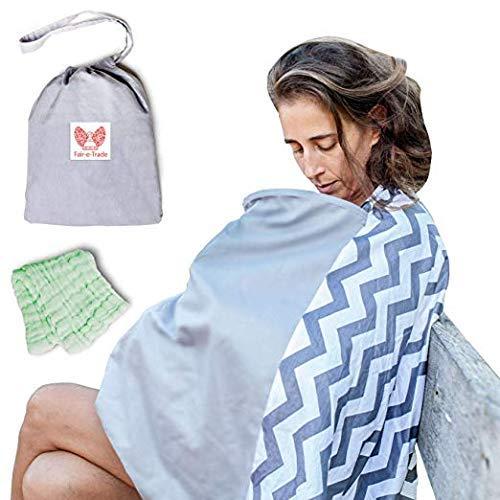 Fair-e-Trade Poncho Rigid Neckline Nursing Cover, 100% Premium Breathable Cotton
