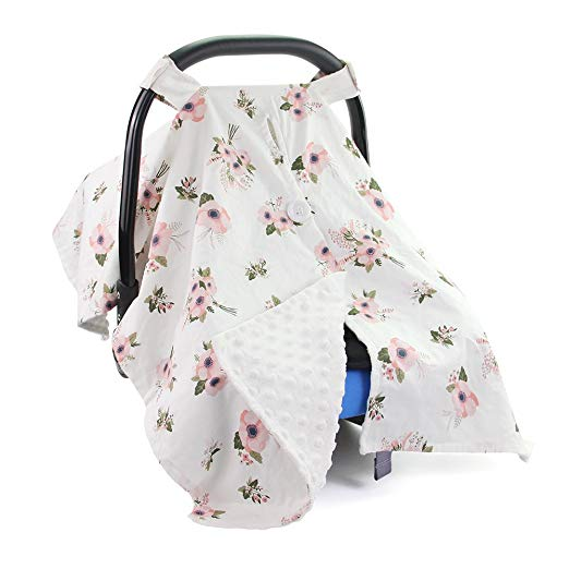 ICOSY Baby Nursing Cover Multi Use Mom Breastfeeding Cover Premium Carseat Canopy Full Privacy Protection for Babies