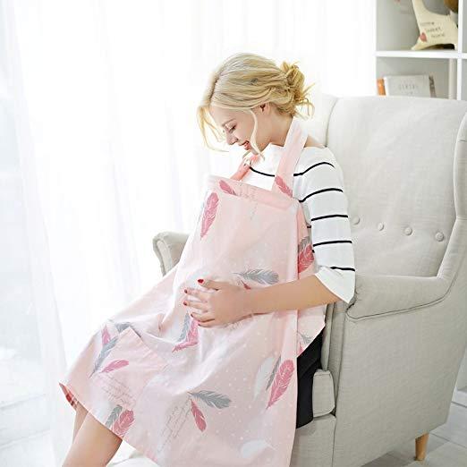 Gina Era Nursing Cover Baby Breastfeeding Cover Infant Feeding Cover Infant Breathable Privacy Breast Feeding Cover 100% cotton (style11)