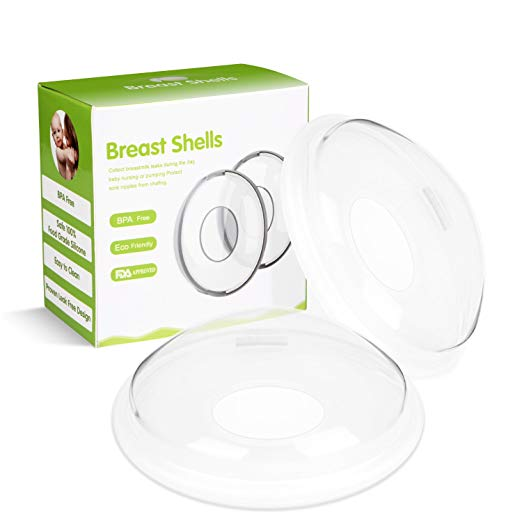 Breast Shells, Moppet Milk Saver for Breastfeeding, Nursing Shield Cups – 2 Pack, Food Grade Silicone Nipple Shells,Soft Breast Milk Shields Protect Sore Nipples, Collect Breastmilk for Nursing Moms
