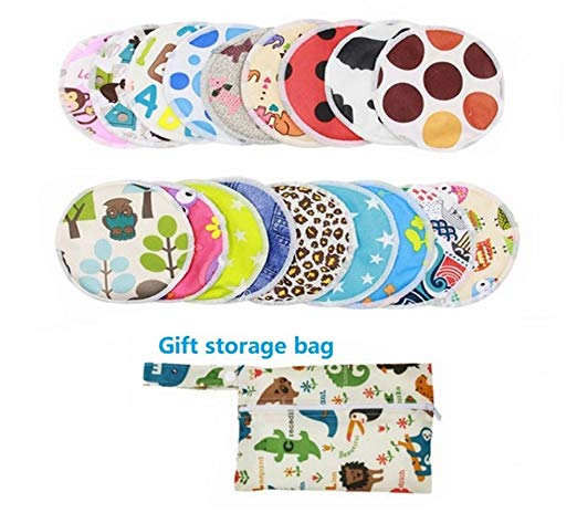 Bamboo Nursing Pads Washable Reusable 8 Pack Assorted 4.7