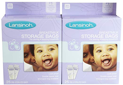 Lansinoh Breastmilk Storage Bags - 25 ct - 2 Pk
