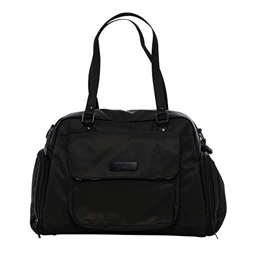 Ju-Ju-Be Onyx Collection Be Pumped Breast Pump Tote Bag, Black Out