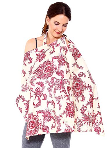 EPYA Privacy Breastfeeding Baby Blanket Poncho Nursing Cover