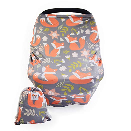 Baby Nursing & Breastfeeding Cover, Car Seat Canopy | Multi-use - Woodland Fox