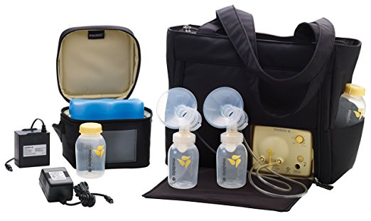 Medela Pump in Style Advanced with On the Go Tote, Electric Breast Pump for Double Pumping, 2-Phase Expression Technology, Portable Battery Pack, Adjustable Speed and Vacuum, Sleek Microfiber Tote Bag