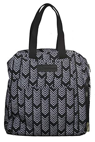 Sarah Wells Kelly Convertible Breast Pump Bag and Backpack (Black and White)