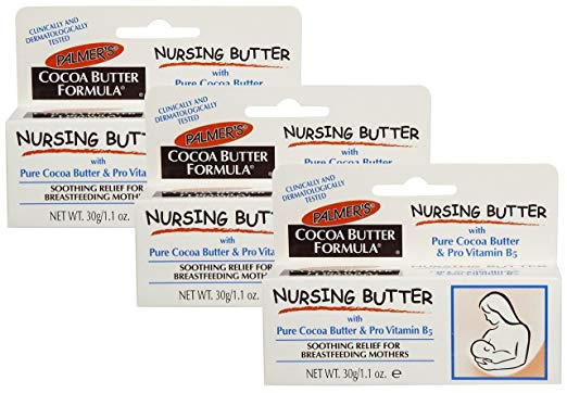 Palmer's Cocoa Butter Nursing Cream, 1.1 Ounce, Pack of 3